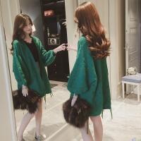 胖妹妹春季新款大码女装针织开衫外套 胖MM宽松藏肉减龄毛衣200斤