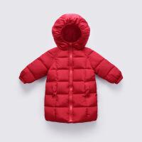 儿童羽绒加厚中长款男童棉衣女童棉袄小孩婴幼儿冬季宝宝童装