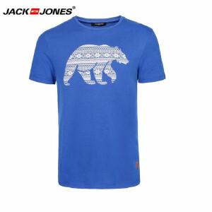 杰克琼斯/JackJones时尚百搭新款T恤 北极熊短袖T恤-13-1-1-214301004034