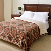三层毛毯加厚双层被子珊瑚绒毯被冬季盖毯子仿羊羔绒毛毯双人