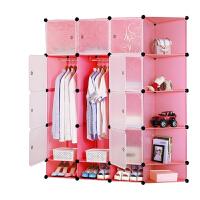 门扉 简易衣柜 储物柜DIY魔片自由组合衣橱塑料家居用品收纳盒
