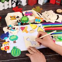 儿童幼儿园彩笔涂鸦玩具画画工具模板绘画套装小学生绘画美术用品