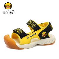 【大促价:95.6】B.Duck小黄鸭童鞋男童包头凉鞋2020夏季儿童沙滩凉鞋宝宝机能凉鞋B2183914
