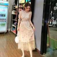 2018新款性感泰国潮牌心机吊带连衣裙星星亮片刺仙女长裙沙滩裙