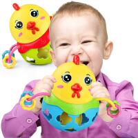 婴儿玩具0-3-6-12个月摇铃智力能咬手摇铃女宝宝软胶0-1岁