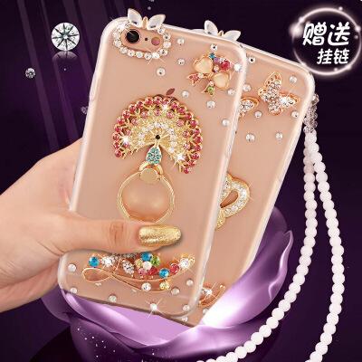iphone6手机壳苹果6s保护套子pG6六S水钻萍果6硅胶