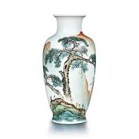 景德镇瓷器粉彩手绘陶瓷花瓶新中式客厅玄关电视柜工艺品摆件