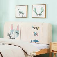 床头靠垫床头板软包布艺床头罩简约现代可拆洗