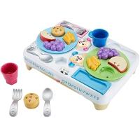 费雪 宝宝吃饭餐盘组(双语) 儿童早教发声过家家玩具儿童节礼物 智玩宝宝餐盘组(双语)