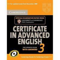 【预订】Cambridge Certificate in Advanced English 3 for