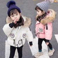女宝宝冬装韩版洋气新款羽绒棉袄婴幼儿时尚加厚保暖棉衣外套