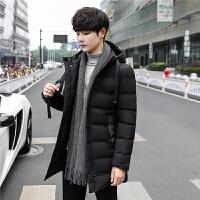 保暖休闲棉袄冬装男棉衣中长款修身羽绒青年潮流连帽外套