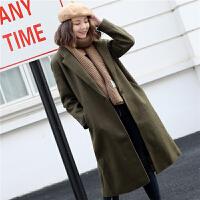 茧型chic韩版中长一粒扣羊毛呢子赫本大衣女加厚气质外套1.6KG