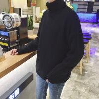 秋冬季男士高领毛衣针织衫韩版潮流情侣外套宽松个性线衣