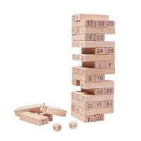 木玩世家叠叠乐数字叠叠高层层叠抽积木儿童玩具桌面游戏
