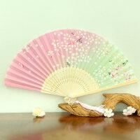 日式折扇中国风女式扇子绢扇樱花和风工艺古风折叠小扇女扇礼品
