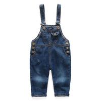 女童春装牛仔背带裤童装新款儿童3岁男宝宝4洋气5长裤子