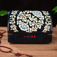 木质结婚牡丹饰品盒新娘首饰盒收纳礼品