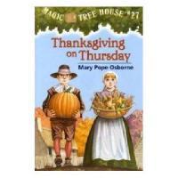 【现货】英文原版儿童书 Thanksgiving on Thursday 神奇树屋系列27:感恩节奇遇 新旧版本随 机