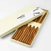 日式无蜡竹筷子家用竹木快子家庭装套装竹子无漆筷子木筷野炊/烧烤