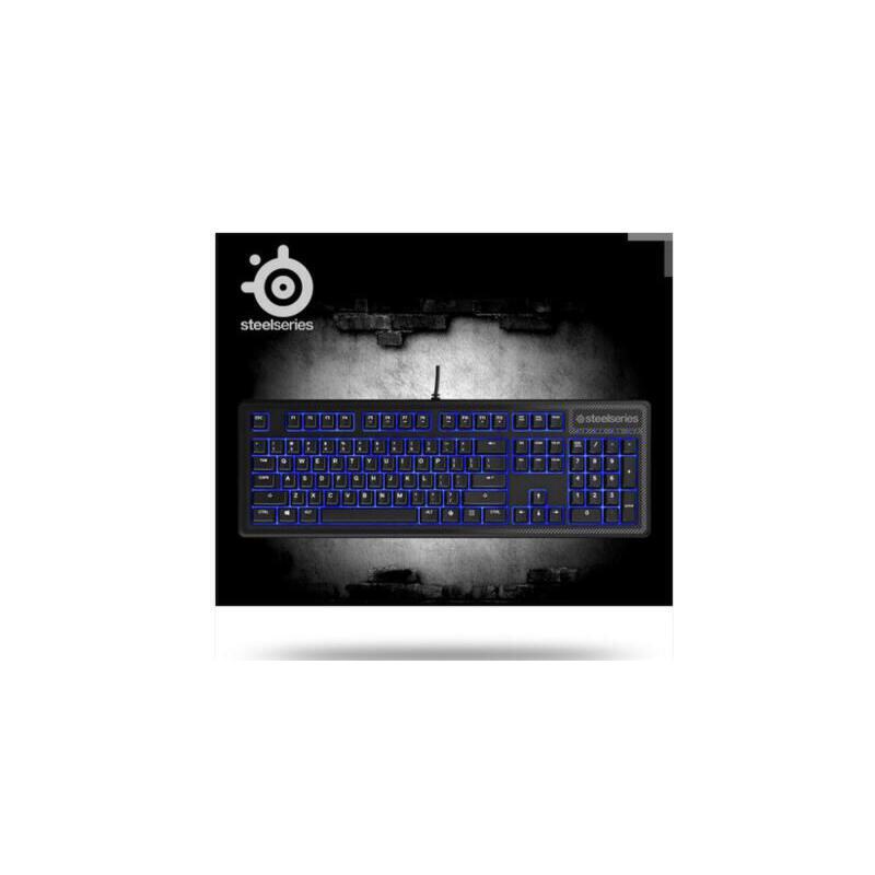 SteelSeries赛睿 APEX 100电竞薄膜键盘机械手感蓝色背光绝地求生