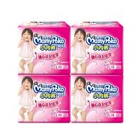 妈咪宝贝小内裤式纸尿裤婴儿尿片L19片*4女宝宝拉拉尿不湿