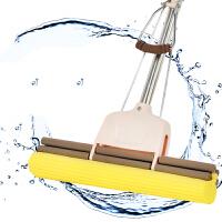 拖把 新款多功能家用可伸缩大号不锈钢滚轮吸水挤水免手洗海绵胶棉拖把拖布卫浴用品