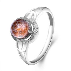 梦克拉 s925银发晶戒指 简爱  水晶戒指环 可礼品卡购买