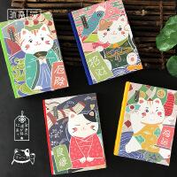 【领券立减30元】日式手账本福猫系列2019年日程本笔记本子每日计划表365行事历效率手册女日历记事本工作时间轴手账一