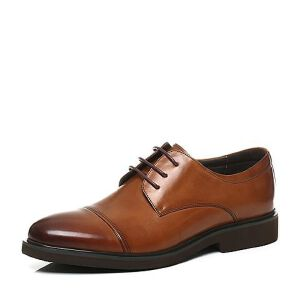 Belle/百丽2017秋季牛皮商务正装系带低跟男皮鞋54107CM7