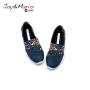 jm快乐玛丽春秋新款透气设计师涂鸦儿童鞋网格套脚鞋子