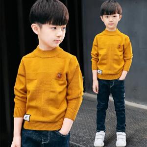 【大厂做工,好质量】儿童装男童毛衣套头秋冬款2019新款中大童加厚高领线衣针织衫上衣