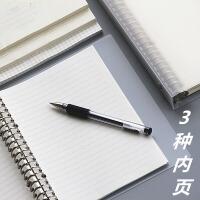 苏铁时光小方格空白横线活页本A5/B5大笔记本子绘画网格手账本