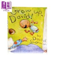 【中商原版】大卫香农:长大了的大卫Grow up, David! 名家绘本 亲子绘本 Scholastic 精装 3~5