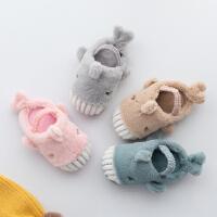 儿童棉拖鞋冬季男宝宝拖鞋女童可爱室内家居鞋婴幼儿防滑软底保暖