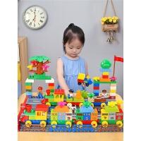 城市积木儿童玩具拼装汽车1火车2女孩男孩子3-6周岁