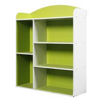 [当当自营]慧乐家 书柜书架 五格收纳柜储物柜 绿白色 11328-2