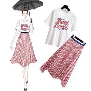 安妮纯2019新款夏季复古社会网红衣服晚晚风女神范bf俏皮套装女两件套装