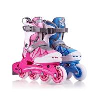 可调旱冰滑冰直排轮 轮滑鞋女溜冰鞋儿童全套装男初学者
