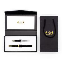英雄实业永生钢笔688C 2件套装经典黑 明尖暗尖铱金钢笔美工笔宝珠笔签字笔 学生成人办公书法练字墨水笔礼品钢笔