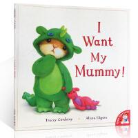 英文原版I want my mummy我想要我妈妈 温馨治愈系绘本故事书 亲子家庭绘本母爱 儿童情商管理英语启蒙阅读图