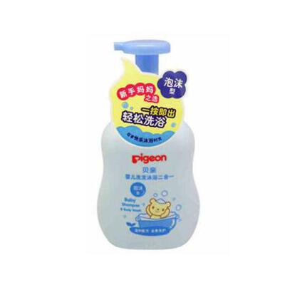 Pigeon/贝亲 婴儿洗发沐浴二合一 洗澡洗头沐浴露 泡沫型 冬季护肤 防晒补水保湿 可支持礼品卡