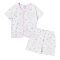 婴儿衣服夏装男女宝宝内衣短袖短裤套装薄款外出服