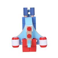 儿童螺母积木拆装玩具飞机组装拼装木质玩具幼儿 航天飞机