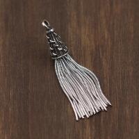 -泰银复古做旧款手串耳环项链diy配件 s925银饰品打造流苏挂坠