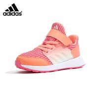 阿迪达斯adidas童鞋18新款婴幼童运动鞋女童学步鞋男童透气防滑软面宝宝鞋(0-4岁可选) AH2392