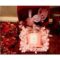 永生花礼盒伴手礼香薰蜡烛礼盒套装香氛蜡烛丝绒礼盒