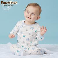【3件3折 到手价:89】Pawinpaw卡通小熊童装夏款男女宝宝连体衣婴幼儿棉质长袖爬服