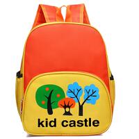 幼儿园书包批发定做2到7岁广告培训辅导班背包印logo 亮桔色 三棵树