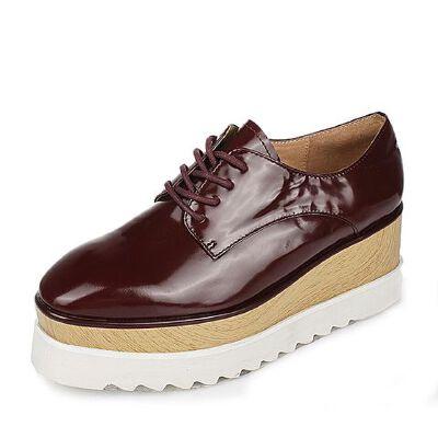 Belle/百丽春季专柜同款时尚休闲牛皮女单鞋P6B3DAM6